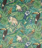 Rainforest Velvet / Lagoon Fabric