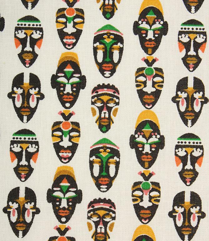 Warrior Mask Fabric / Blanc