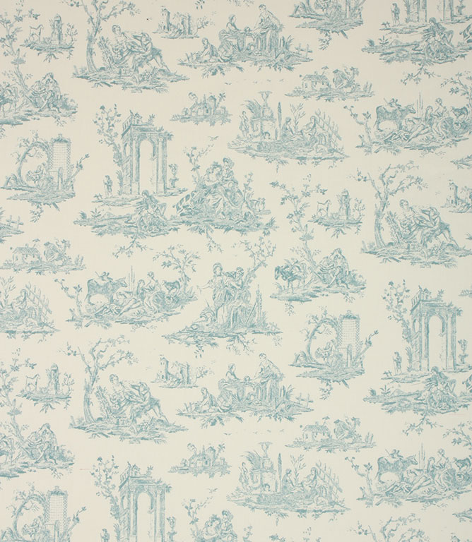 Light Blue French Toile Fabric