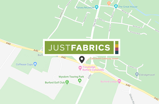 Burford Fabric Shop map