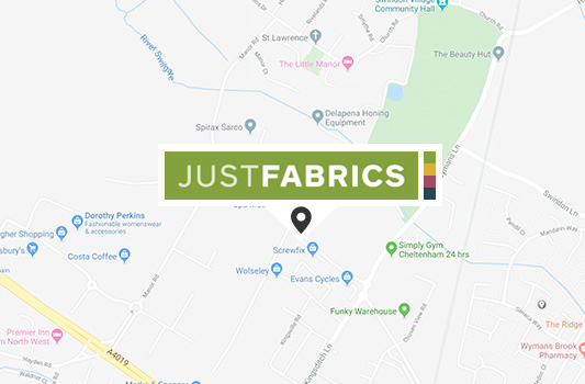 Cheltenham Fabric Shop map