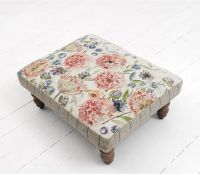 Footstools & Ottomans - Pom Pom Floral Capella Footstool