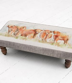 Footstools & Ottomans / Highland Cattle Mya Footstool