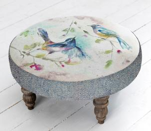 Footstools & Ottomans - Dancing Birds Cato Footstool