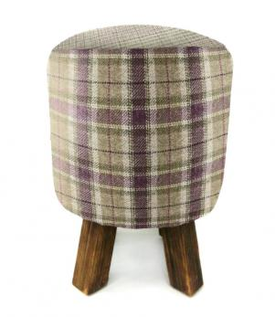 Footstools & Ottomans - Arrochar Plum Monty Stool