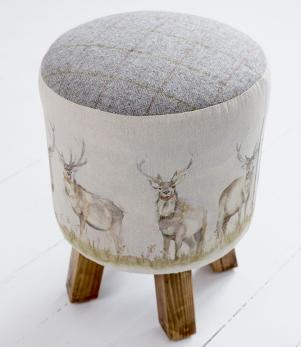 Footstools & Ottomans / Moorland Stag Monty Stool