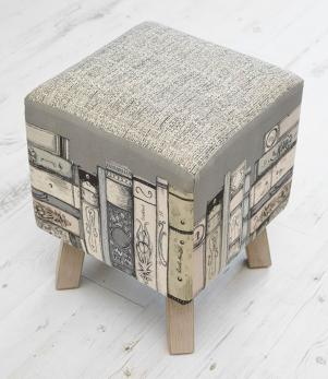 Library Books Toby Footstool