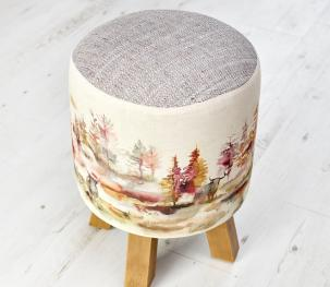 Footstools & Ottomans - Caledonian Forest Monty Stool