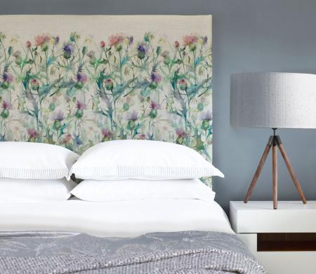 Art Panel Headboards / Damson Bristle Headboard