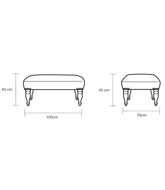 JF Footstools - No.013 Footstool