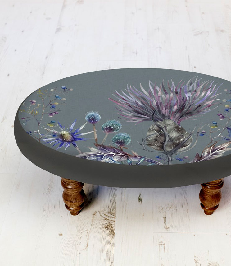Footstools & Ottomans - Thistle Heather Ceres