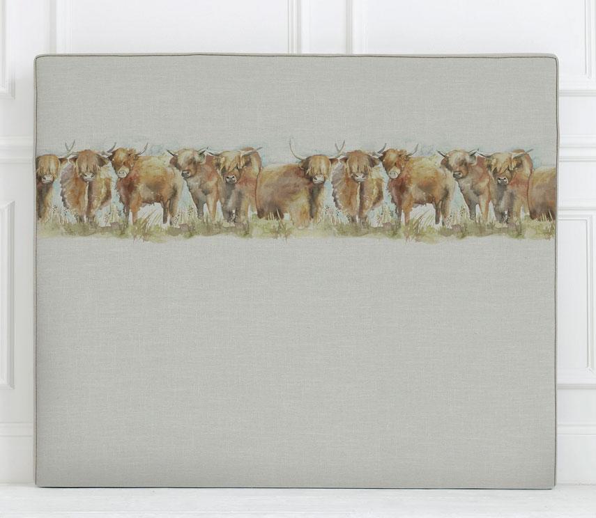 Art Panel Headboards - Highland Cattle Headboard