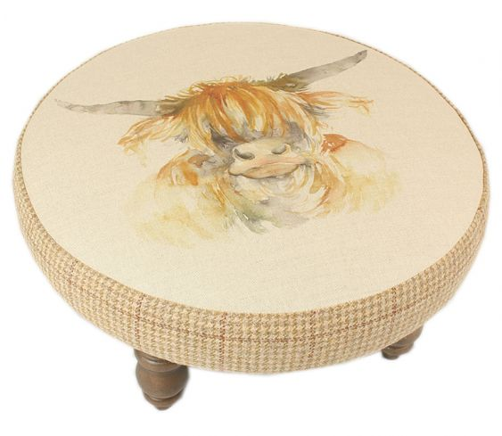 Footstools & Ottomans - Highland Coo Cato Footstool