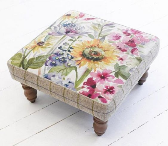 Footstools & Ottomans - Kastra Sunflower - Footstool