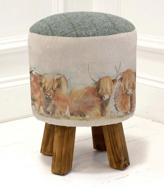 Footstools & Ottomans - Highland Cattle Monty Stool