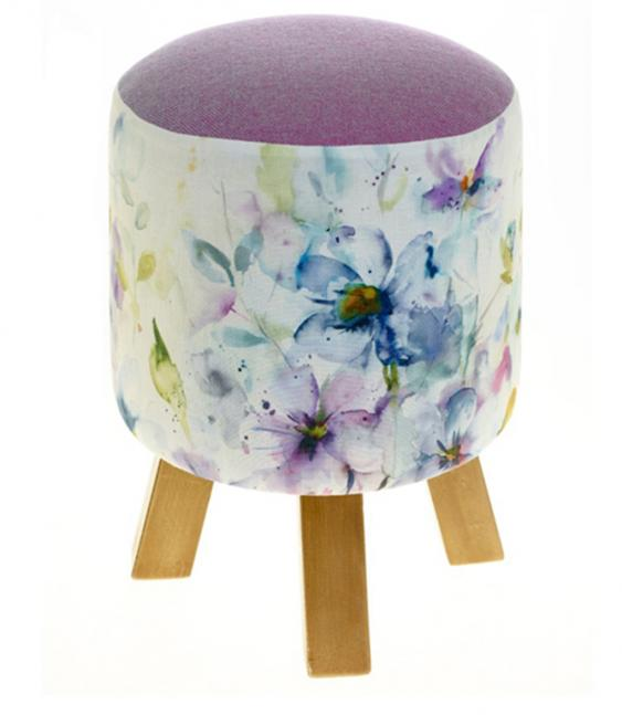 Footstools & Ottomans - Periwinkle Monty Footstool