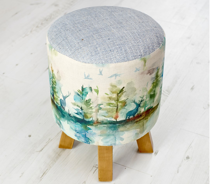 Footstools & Ottomans - Wilderness Topaz Monty stool
