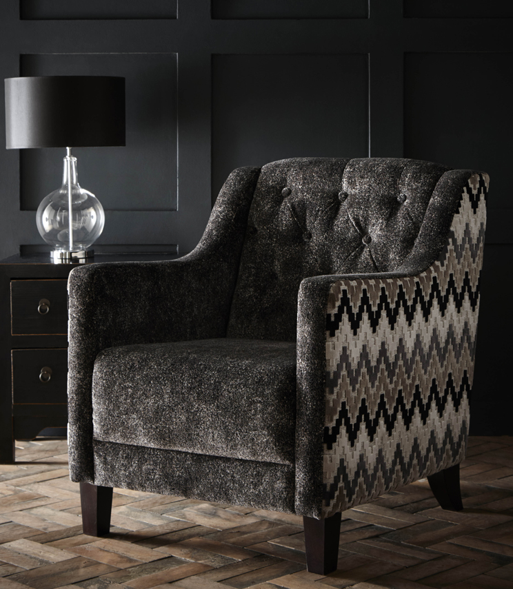 Statement Chairs - Hampton Stucco Ebony