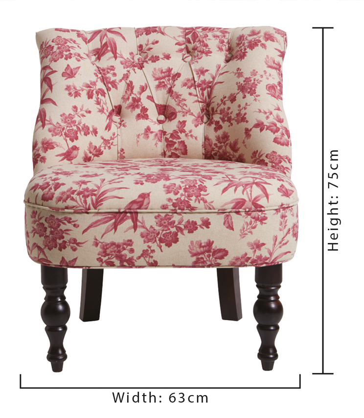 Statement Chairs - Odette Amelia Raspberry