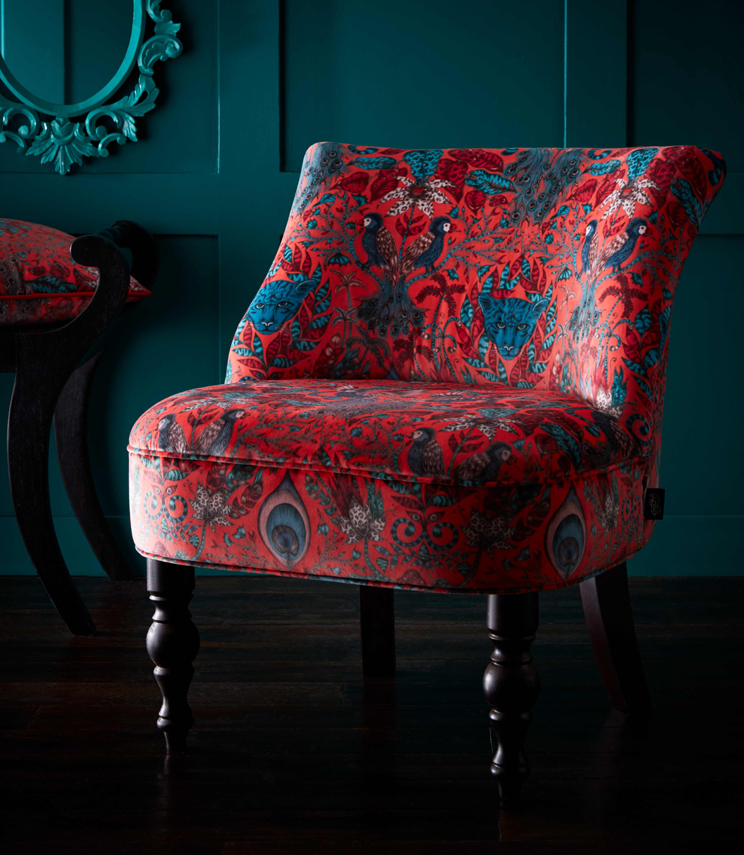 Statement Chairs - Langley Amazon Red