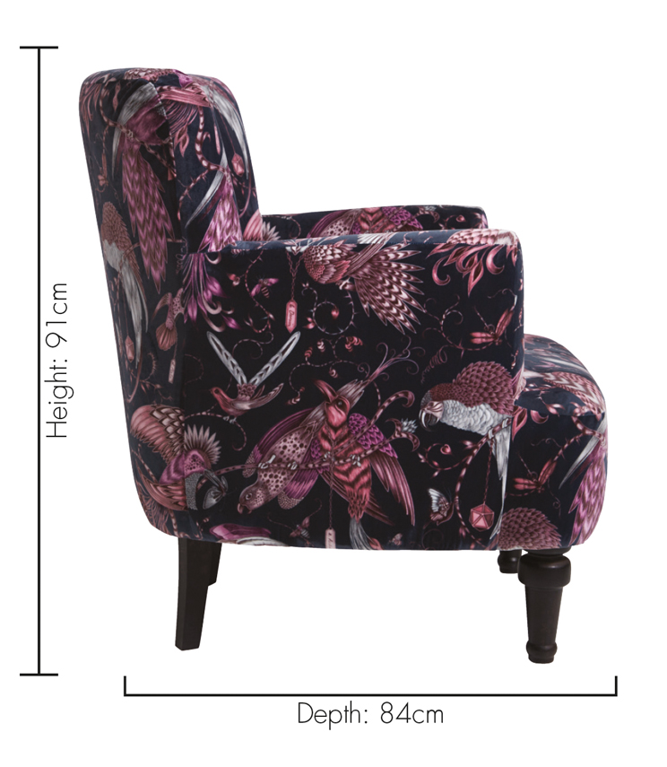 Statement Chairs - Dalston Audubon Pink