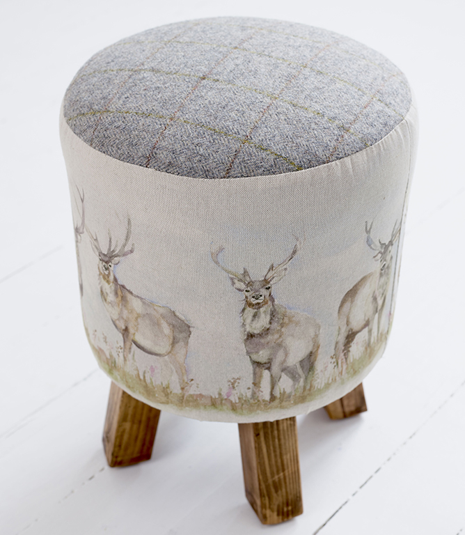Footstools & Ottomans - Moorland Stag Monty Stool
