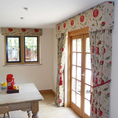 Red Floral Curtains Gallery | Just Fabrics