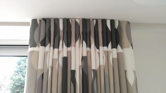 These Curtains Have A Contemporary Wave Heading Which Really Shows Off Our  Popular Vases Fabric.