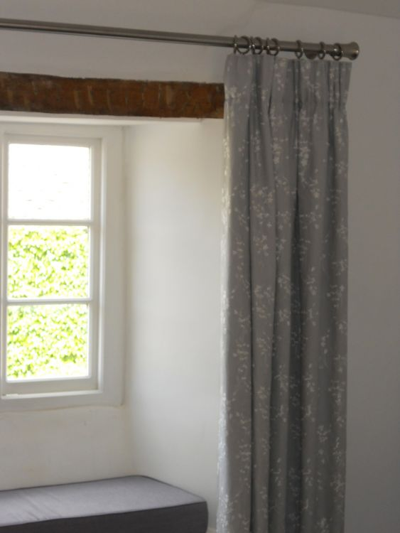 Beautiful Embroidered Linen Curtains Were Made For This Clientu0027s Bedroom.