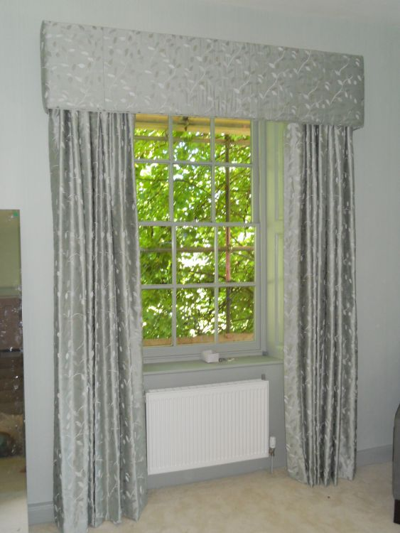 Made to match these full length curtains in our linden curtain fabric
