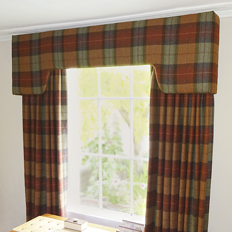 Tartan Curtains And Pelmet Just Fabrics