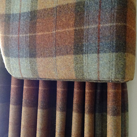 Tartan Curtains And Pelmet Just Fabrics