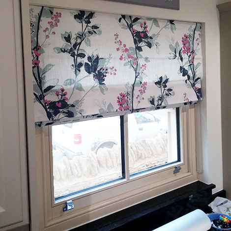 Contemporary Floral Roman Blinds Gallery Just Fabrics