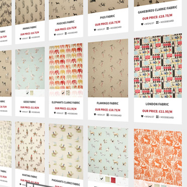 Fabric Roman Blinds