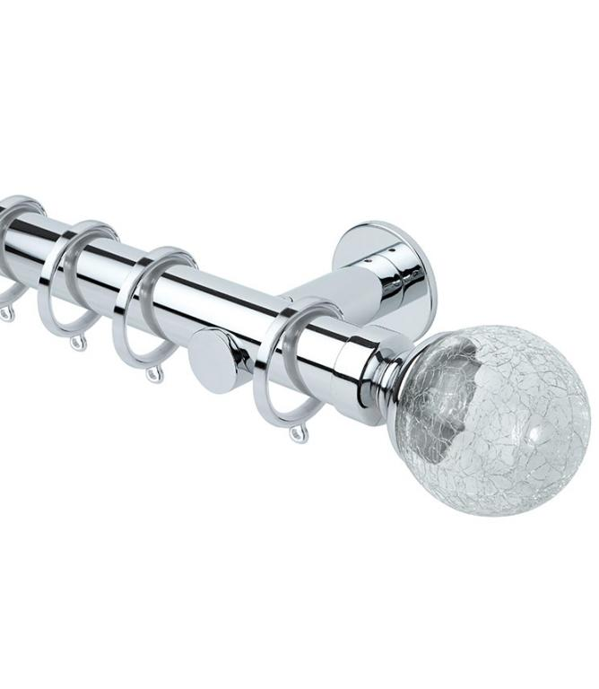 Chrome 35mm Neo Style Crackle - Cylinder Bracket