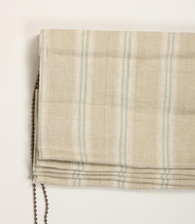 Cotswold Stripe Duck Egg Roman Blind