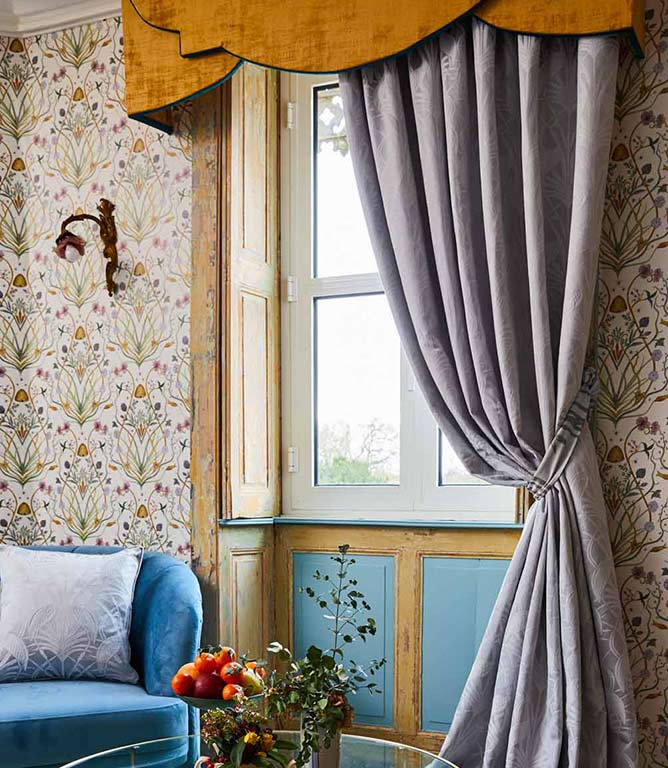 The Chateau Deco Heron Grey Curtains
