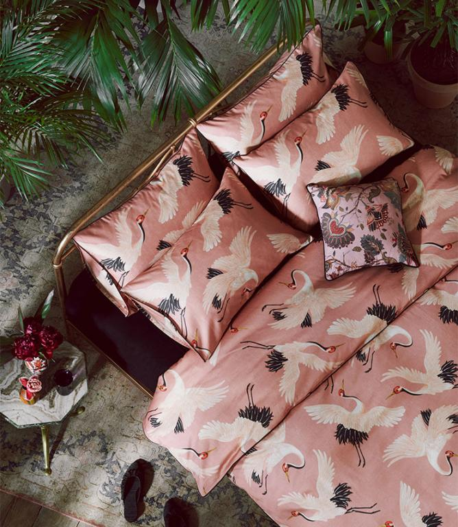 Oriental Birds Blossom Bedding Set